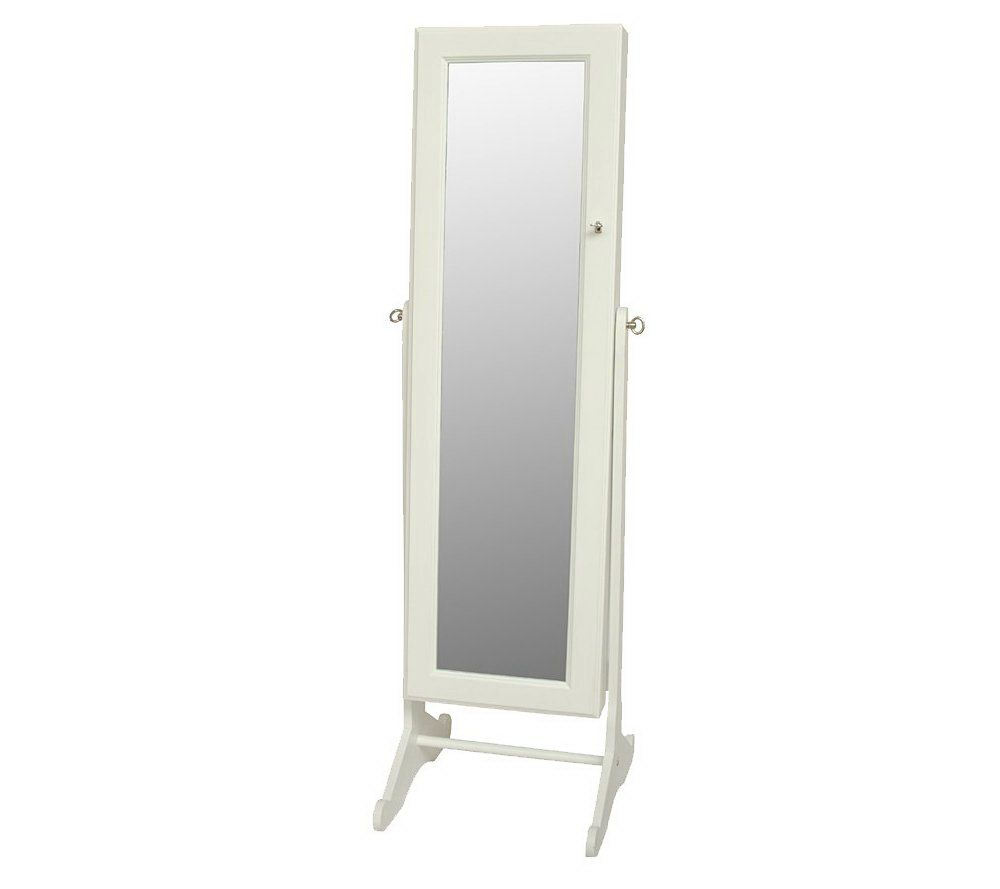 Gold Amp Silver Safekeeper Mirrored Jewelry Cabinet by Lori Greiner White
