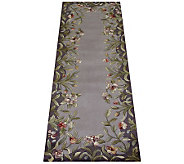 Royal Palace 26&quot x 8 Lavender Garden Wool Runner - H126288