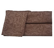 Embossed Scroll 3-piece Microfiber TW Sheet Set - H189493