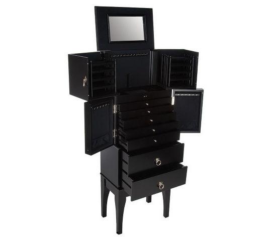 Furniture Gt Bedroom Furniture Gt Jewelry Armoire Gt Black