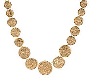 VicenzaGold Round Graduated Drusy Quartz Necklace 14K Gold - J265001