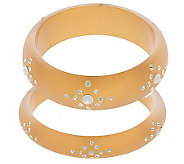 Susan Graver Set of 2 Acrylic Bangles with Starburst Crystals - J272502