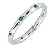 Simply Stacks Sterling Emerald Multi-stone Stackable Ring - J298602