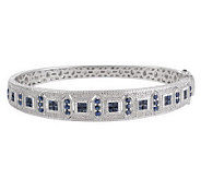 AffinityDiamond Sterling 1/10 ct tw & Precious Gemstone Bangle - J157204