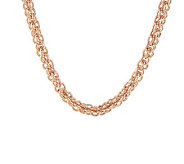 Bronzo Italia 24 Polished Caged Link Necklace with Magnetic Clasp - J275704