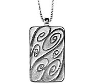 Sterling Life Tag Pendant with 18 Chain by Steven Lavaggi - J305705