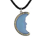Kirks Folly Crescent Seaview Moon Shadow Necklace - J260806