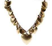 Joan Rivers Cascading Hearts  30 Charm Necklace w/3 Extender - J264108