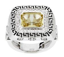 Aldo Orta Sterling Limon Quartz Power Ring