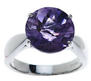 As Is 5.00 ct tw Checkerboard Round Gemstone Sterling Ring - J281308