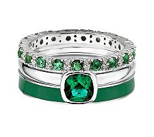 Simply Stacks Sterling Luck of the Irish Ring Set