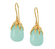 Adi Paz Blue Chalcedony Drop Earrings 14K Gold - J268009