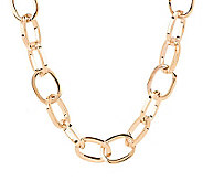 Bronzo Italia 20 Bold Polished Oval Link Necklace - J276109