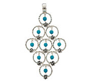 Michael Dawkins Sterling Silver Turquoise Chandelier Enhancer - J268611