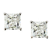 Epiphany Platinum Clad Diamonique 5.00 ct tw Princess Earrings - J112314