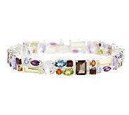 Multi-Gemstone Multi-Shape Sterling Tennis 6-3/4 - J265315