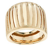 EternaGold Bold Domed Striata Pattern Band Ring 14K Gold - J269815