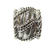 Judith Ripka Sterling Textured Rope Design Charm - J301915