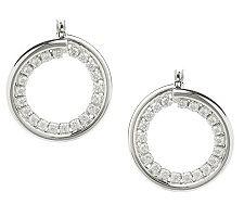 Diamonique 1.30 ct tw Sterling Twisted Hoop Earrings