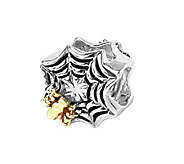 Prerogatives Sterling and 14K Spider Web Bead - J108418