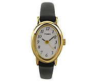 Timex Ladies Fashion Cavatina Watch with BlackLeather Strap - J102919