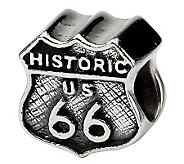 Prerogatives Sterling Silver Historic Route 66Bead - J111520