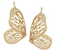 J267420 - Wildlife by Heidi Klum Open Work Butterfly Earrings