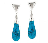RLM Studio Sterling & Gemstone Teardrop Dangle Earrings - J275520