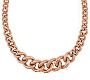 Bronzo Italia 20 Polished Graduated Status Curb Link Necklace - J275422