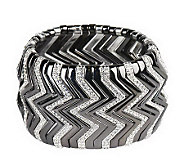 Joan Rivers Pave Chevron Stretch Bracelet - J263923