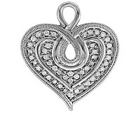 Affinity Diamond Heartistry Sterling 1/4cttwHeart Pendant - J113924