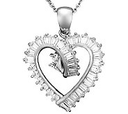 Epiphany Diamonique 1.55 cttw Heart Pendant - J310524