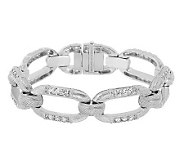 Judith Ripka Textured Grand Statement Diamonique Link Bracelet - J269525