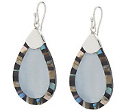 Lee Sands Sterling Mother-of-Pearl &Shell Teardrop Earrings - J145426