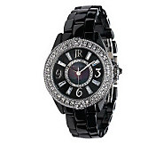 Judith Ripka Ceramic and Stainless Steel Diamonique Bracelet Watch - J263128