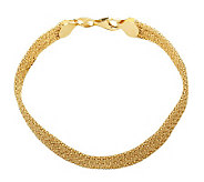 EternaGold 7-1/2 Diamond-Cut Woven Bracelet, 14K Gold, 6.0g - J307628