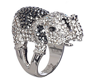 Kirks Folly Elephant Walk Crystal Encrusted Ring