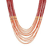 Susan Graver Nested Multi-Strand Seed Bead Necklace - J266929