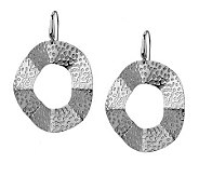 Steel by Design Round Wavy Hammered Dangle Earrings - J270530