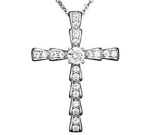 Epiphany Diamonique 3/4 cttw Cross Pendant — QVC.com