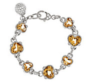 Judith Ripka Sterling Faceted 12.50ct Gemstone 7-1/4 Bracelet - J276932