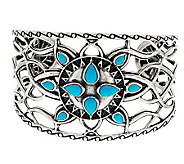 Kenneth Johnson Sterling Sleeping Beauty Turquoise Cuff - J280232