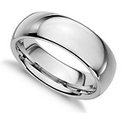 Sterling Silver 7MM Silk Fit Unisex Wedding Band Ring - J312032