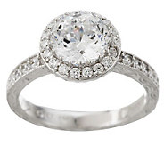 Tacori IV Diamonique Epiphany 2.50 ct tw Halo Bloom Cut Ring - J266833