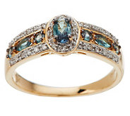0.50 ct tw Alexandrite and 1/8 ct tw Diamond Band Ring, 14K - J268836