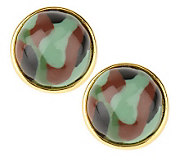 Joan Rivers Glamoflauge Button Earrings - J155837