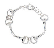 VicenzaSilver Sterling Adjustable Status Link Bracelet - J276037