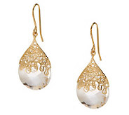 Adi Paz 15.50 ct tw Briolette Faceted Quartz Earrings, 14K - J277437