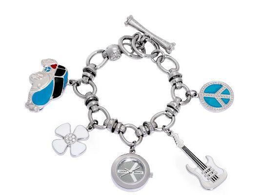 Lucky Brand Women's Silvertone Dangle Charm Watch