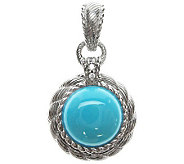 Judith Ripka Diamonique & Turquoise Enhancer, Sterling - J309640